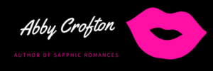 Abby Crofton author of sapphic romances with pink lips